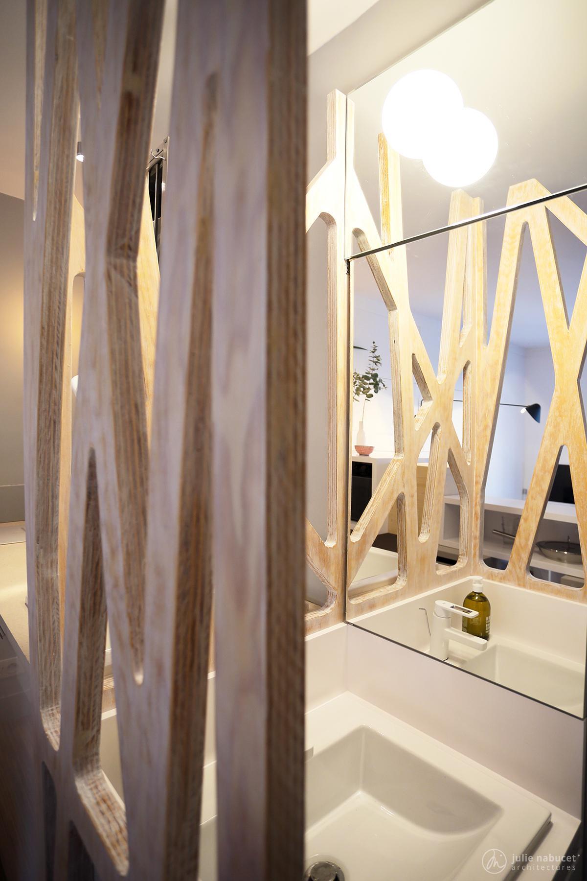 mini studio 12m et pans de bois julie nabucet architectures. Black Bedroom Furniture Sets. Home Design Ideas